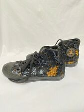 Converse Chuck Taylor All Star Glitter Canvas High-Top Trainers - Size UK 3