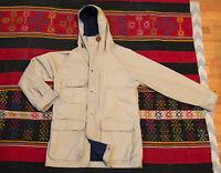 Vintage The Woolrich Womens Size S Beige Blanket Lined Hooded Rain Parka Jacket