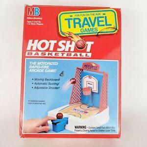 Vintage Travel Games Hot Shot Basketball Milton Bradley 100% Complete w Box 1992
