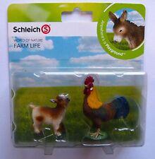 Schleich  Farm Life Mini Spielset Hahn und Ziege  Neu u. OVP