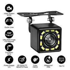 170° HD CMOS Car Rear View Reverse Backup Camera 12 Led Waterproof Night Vision
