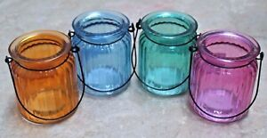 1-Ribbed Shaped Lantern U Choose Color~ Use with Pillar Candles With Purchase