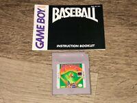 Baseball w/Manual Nintendo Game Boy Tested Authentic