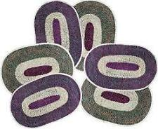 SA Collections Set of 6 Round Cotton Door Mat-(Size 13x18)