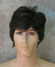 Dark Brown Short Thick Full Mens Wig SEXY Wigs Jay 4