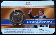 Nederland 2014 - 2 euro koningsdubbelportret BU in Coincard