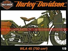 HARLEY DAVIDSON WLA 750 US Army 2ème Guerre Mondiale WW2 Money Shot Billy LANE