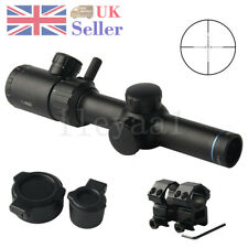 1-4x20 Red Green Dual illuminated Optical Riflescopes Airsoft Scope Laser Sight