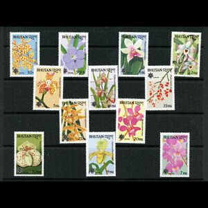 BHUTAN 1990 Flowers. SG 851-862. Mint Never Hinged. (AF515)