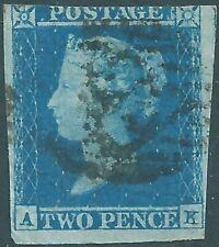 GB  QV 1841 SG14 2d Blue  Used Cat £90