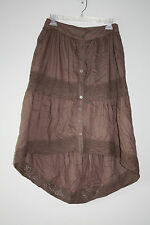 ANGIE M Women`s Brown High Low Skirt Size M NWOT