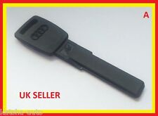 NEW AUDI A2 A3 A4 VALET TRANSPONDER DASH PLASTIC EMERGENCY KEY BLADE HAA