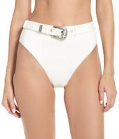 Onia Emily White Bikini Swimsuit Bottoms Women's Size S 69914