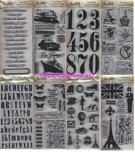2TIM HOLTZ Lot of 8  Cling Rubber Stamps Stamper's Anonymous NEW RELEASES