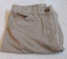 """L.L. Bean """"Classic Fit"""", """"Straight"""", Khaki Shorts, Size 4 Reg, Stretch, Flat S6"""