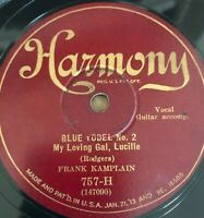 Frank Kamplain 78rpm Harmony 757 AWAY OUT ON THE MOUNTAIN - Blue Yodel No2