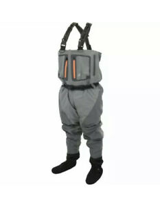 Frogg Toggs Pilot II Breathable Stocking foot Chest Wader - XL Slate/Gray New