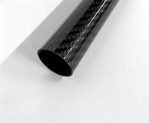 CFK Rohr Sichtcarbon-Rohr Ø 20 mm - Länge 250 mm Carbon Rohr Rundrohr