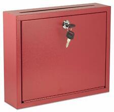 Adir Office, Multi Purpose Large 12x10x3 Suggestion Steel Drop Box, (631-03-Red)