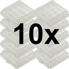 10 x Aufbewahrungsbox für AAA / AA Batterie Batteriebox Mignon Micro Akku Box