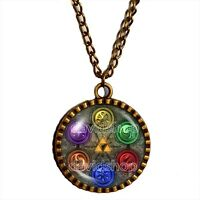 The Legend Of Zelda Triforce Necklace Ocarina of Time Pendant Jewelry Cosplay