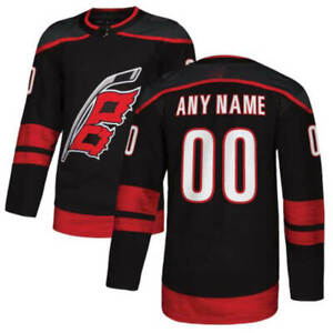 Carolina Hurricanes Custom Jersey Men Ice Hockey Black Stitched Any Name Number