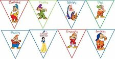 Snow White 8 panel party large banner original cartoon images 8 x 8""