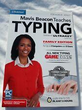 Mavis Beacon Teaches Typing Power by Ultrakey V2 Family Edition PC mac sealed
