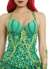 DC COMICS SEXY POISON IVY BUSTIER CORSET COSPLAY TOP HALLOWEEN COMIC CON SZ SM