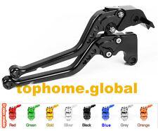 For Yamaha R6 2005-2016 / R1 04-08 Long Clutch Brake Levers CNC Black Adjustable