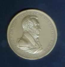Andrew Jackson 1829 Large Format U.S. Mint Medal # 107 with Original Info Sheet