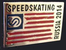 SOCHI 2014 Olympic USA SPEEDSKATING Team delegation flag pin very rare