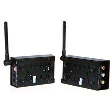 2.4GHz 4CH 4 CH Wireless Audio Video AV TV Transmitter Receiver TV VCR DV Black