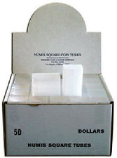 5 NUMIS Square Large Dollar 38mm Coin Tubes, Coin Storage