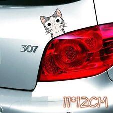Cute Funny Face Cartoon CAT Car Decal Car Sticker - 1pc
