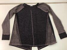 Oddi Womens Purple Knit OPen SLit in Back Sweater Top Sz M