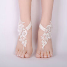 Barefoot Lace Anklet Wedding Prom Party Beach Footwear Toe Foot Sandals
