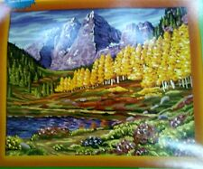 """Craft House 2003 Oil Paint by Number 16x20"""" Artist Touch 5 #11544 Maroon Bells"""