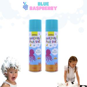 Kids Mouldable Foam Soap x 2 Blue Raspberry - Extra Sensorary Fun For Bath Time