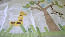 CHARMING POTTERY BARN APPLIQUE SHOWER CURTAIN WITH JUNGLE ANIMALS NIP SS856