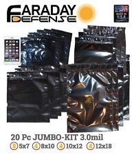 Faraday Cage ESD EMP Bags 20 BULK LOT iPhone LARGE Laptop Preppers/Survivalists