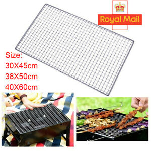 Stainless Steel BBQ Grill Grate Grid Wire Mesh Rack Cooking Replacement Net UK