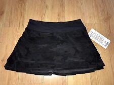 NWT Lululemon PACE SETTER REGULAR Skirt BLACK CAMO SC2B/BLK (Size 02 REG)