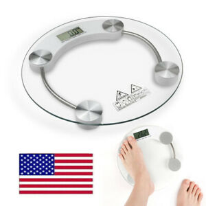400lb/180KG Bathroom Digital Electronic Glass Weighing Body Weight Scale