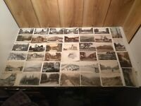 Antique postcards U.K. London, Scotland, Ireland  lot of 80 RPPC early 1900's