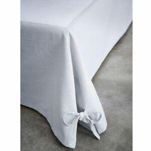 Cache sommier coton 160 x 200 cm - Zinc