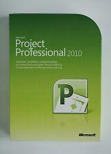 MS Project 2010 PROFESSIONAL PRO DVD retail box 32/64 bit tedesco h30-02673