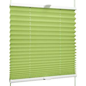 Plissee für Fenster & Tür mit Klemmhaltern Klemmfix ohne Bohren | Grün und Lila
