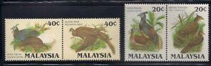Malaysia  1986  Sc # 320-23  Birds  2 Pairs  Perf : 13.5   MNH   (49703)