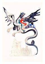 Divine Comedy Inferno 17 by Salvador Dali A4 Art Print